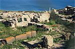 Ruines de Tharros, punique et romaine de la ville fondée par les Phéniciens en 730 av. J.-C., près de Oristano, Sardaigne (Italie), Méditerranée, Europe