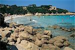 Plage de Capriccioli, Costa Smeralda, Sardaigne, Italie, Méditerranée, Europe