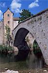 Le Pont-de-Montvert, rivière Tarn, Cévennes, Lozère, Languedoc-Roussillon, France, Europe