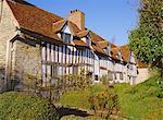 Maison de Mary Arden, lieu de naissance de la mère de Shakespeare, Shottery, près de Stratford-upon-Avon, Warwickshire, Angleterre, Royaume-Uni, Europe