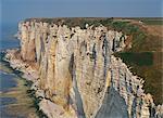 Cliffs of the Alabaster Coast near Etretat in Seine Maritime, Haute Normandie, France, Europe