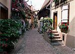 Eguisheim village, near Colmar, Haut-Rhin, Alsace, France, Europe