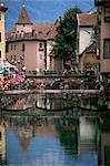 Canal, ville médiévale, Annecy, Haute-Savoie, Rhône-Alpes, France, Europe
