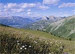 View from Col d'Allos, Parc National du Mercantour, near Barcellonette, Alpes-de-Haute-Provence, Alps, Provence, France, Europe
