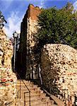 Roman wall, Colchester, Essex, England, United Kingdom, Europe