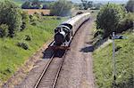 Le chemin de fer Gloucestershire et Warwickshire patrimoine vapeur et Diesel, près de la station Toddington, les Cotswolds, Midlands, Angleterre, Royaume-Uni, Europe