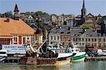 Pêche bateaux, Trouville, Calvados, Côte Fleurie, Normandie, France, Europe
