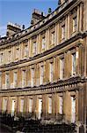 Le cirque, le géorgien terrasse, bain, patrimoine mondial UNESCO, Avon, Angleterre, Royaume-Uni, Europe