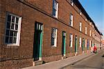 Victorian red brick terrace, King Street, Newark, Nottinghamshire, England, United Kingdom, Europe