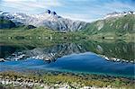 Tjongsfjorden, on Arctic Circle, Kystriksveien coast road, Norway, Scandinavia, Europe