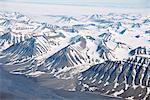 Glaciers and nunateks of Winsnesfjelle, Torrell Land, Spitsbergen, Svalbard, Arctic, Norway, Scandinavia, Europe