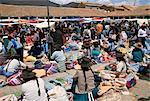 Sunday market at Tarabuco, near Sucre, Bolivia, South America