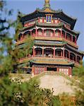 La tour ornée de Fragrance du Bouddha, Palais d'Eté, Beijing, Chine