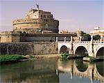 Castel San Angelo and River Tiber, Rome, Lazio, Italy, Europe