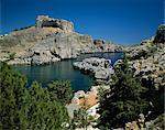 Lindos, l'île de Rhodes, Dodécanèse, îles grecques, Grèce, Europe