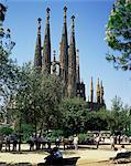 Gaudi's Sagrada Familia, Barcelona, Catalonia, Spain, Europe