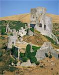 Le château de Corfe, Dorset, Angleterre, Royaume-Uni, Europe