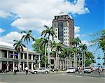 Centre ville et la State Bank, Port Louis, Ile Maurice, l'océan Indien, Afrique