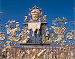Détail de la grande de South Gate, Hampton Court, Londres, Angleterre, Royaume-Uni, Europe
