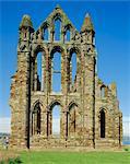 Ruins of Whitby Abbey, Whitby, Yorkshire, England, United Kingdom, Europe
