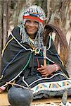 Sangoma (Devin ou médium), village zoulou, Zululand, Afrique du Sud, Afrique