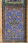 Détail du carrelage sur la mosquée du vendredi ou Masjet-Ellison, construit en 1200 par le Ghorid Sultan Ghiyasyddin sur le site d'une antérieure du Xe siècle mosquée, Herat, Province d'Herat, Afghanistan, Asie