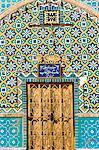 La tuile ronde porte, sanctuaire de Hazrat Ali, qui a été assissinated en 661, Mazar-I-Sharif, province de Balkh, Afghanistan, Asie
