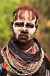 Karo woman, Mago National Park, Lower Omo Valley, Ethiopia, Africa