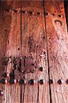 Frescoes on door of Bet Gabriel-Rufael, Lalibela, Ethiopia, Africa