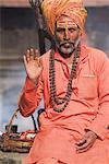 Sadhu (Holy Man), Shivaratri festival, Pashupatinath Temple, Kathmandu, Nepal, Asia