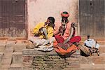 Snake charmers, Patan, Bagmati, Nepal, Asia