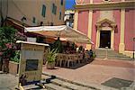 Santa Maria outdoor restaurant, Calvi, Balagne region, Corsica, France, Europe