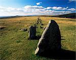 Prehistoric stone rows above Merrivale, Dartmoor, Devon, England, United Kingdom, Europe