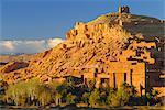 Kasbah Ait Benhaddou près d'Ouarzazate, au Maroc, en Afrique du Nord
