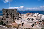 Ruins of Moorish castle, Gibraltar, Mediterranean, Europe