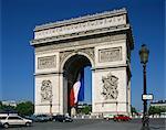 The Arc de Triomphe, Paris, France, Europe