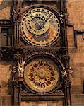 L'horloge astronomique de la vieille ville de Prague, République tchèque, Europe