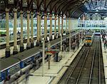 Trains and platforms at Liverpool Street station, London, England, United Kingdom, Europe