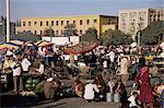 Marché de nuit, Id Kah Square, Kashgar (Kashi), Turkestan chinois, Chine, Asie