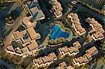 Vue aérienne du ballonnet de l'hotel and swimming pool, Tozeur, Tunisie, l'Afrique du Nord, Afrique