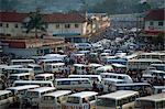 Matatu (minibus) park, Kampala, Ouganda, Afrique de l'est, Afrique