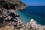 Rocky coast, island of Sicily, Italy, Mediterranean, Europe