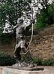 Statue von Robin Hood, Nottingham, Nottinghamshire, England, Vereinigtes Königreich, Europa