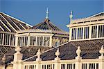 Détail de la maison de climat tempéré, les jardins botaniques royaux de Kew (Kew Gardens), patrimoine mondial de l'UNESCO, Londres, Royaume-Uni, Europe