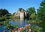 Jardins, château de Scotney, Kent, Angleterre, Royaume-Uni, Europe