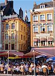 Cafes at Place du General de Gaulle, Lille, Nord, France, Europe