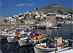 Hydra port et ville, Hydra, îles grecques, Grèce, Europe