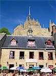 The village, Mont St. Michel, UNESCO World Heritage Site, Manche, France, Europe