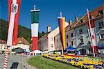 Hauptplatz dans la ville médiévale de Friesach, Carinthie, Autriche, Europe