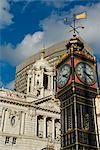 Little Ben clock tower, Victoria Palace Theatre, Victoria, London, England, United Kingdom, Europe